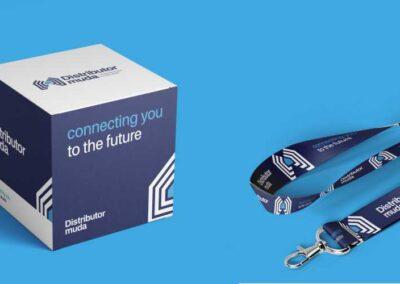 Desain Logo Distributor Muda